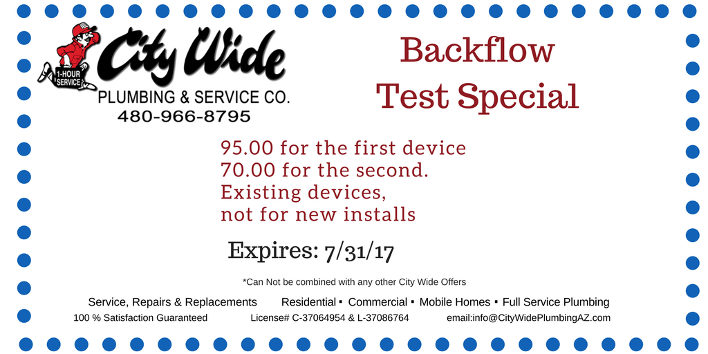 Backflow Test Special City Wide Plumbing