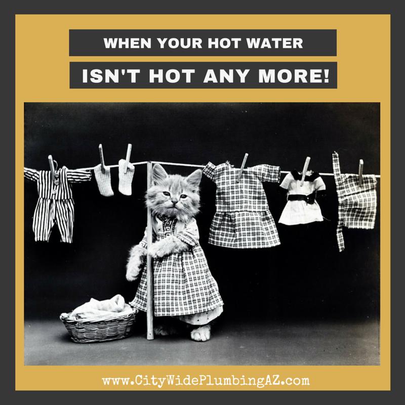 no more hot water