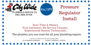 $25 OFF Pressure Regulator Install