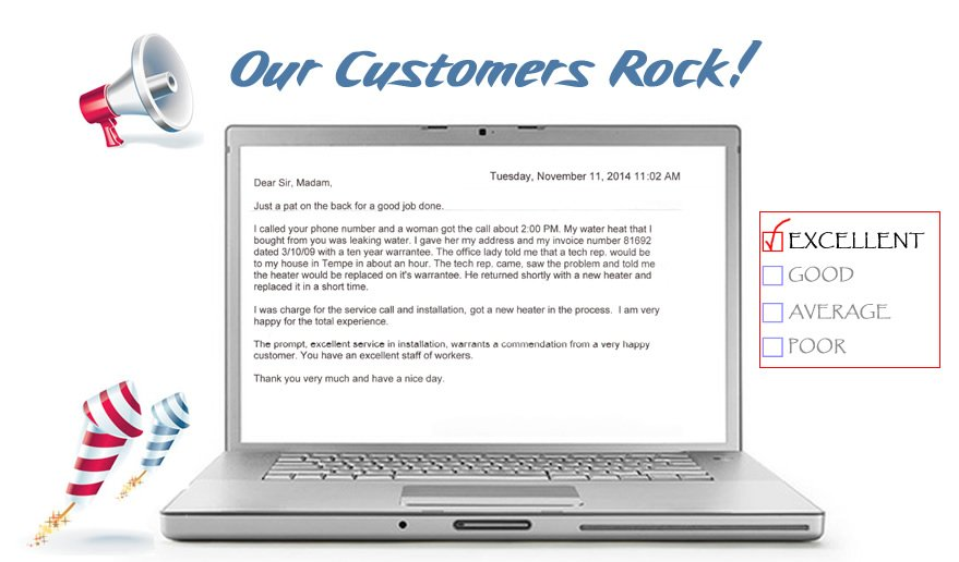 The prompt, excellent service in installation warrants a commendation from a very happy customer. You have an excellent staff of workers.