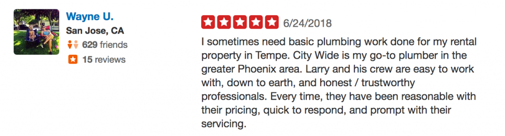 Phoenix, Arizona Plumbing review