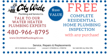 FREE Plumbing Home Inspection with any purchase. $200 Value