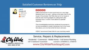 Chandler AZ Plumbing Review for City Wide Plumbing